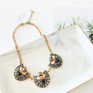 J. Crew Crystal Statement Necklace Lilac
